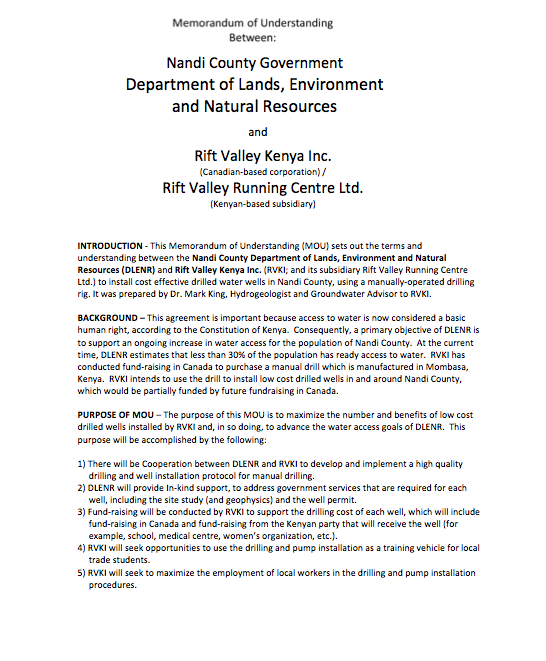 The Southwest Kenya Village Drill – Groundwater Insight